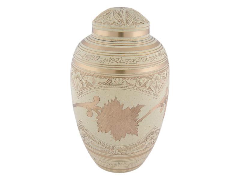 Creme brass urn groot - messing
