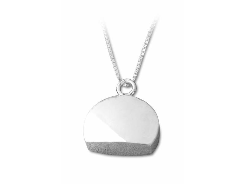 Ashanger halve cirkel - sterling zilver
