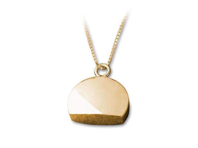 Ashanger halve cirkel - vermeil sterling zilver verguld goud