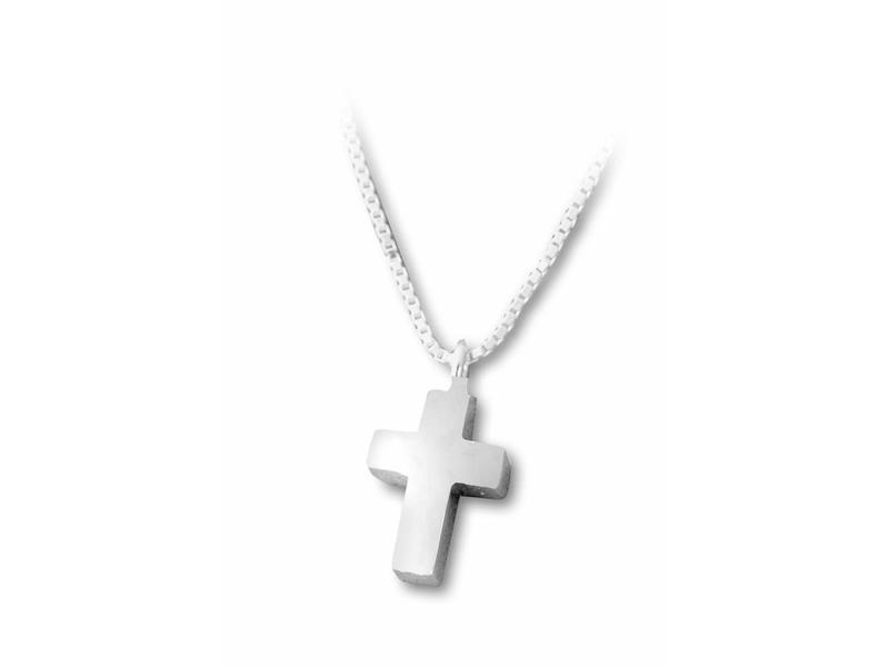 Ashanger kruis klein - sterling zilver