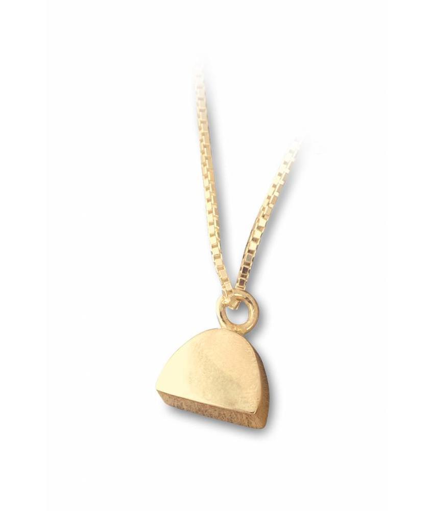 Ashanger halve cirkel klein - vermeil sterling zilver verguld goud