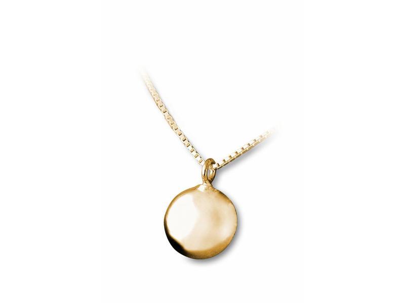 Ashanger rond klein - vermeil sterling zilver verguld goud