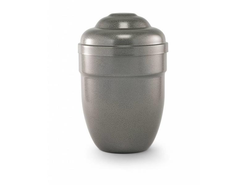 Grijs hamerslag urn - staal