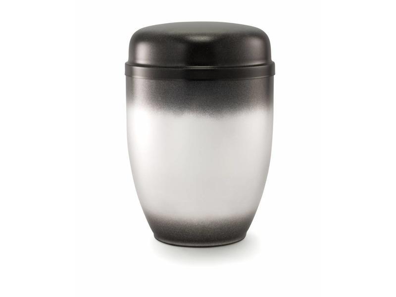 Bokaal urn zwart en zilver - staal