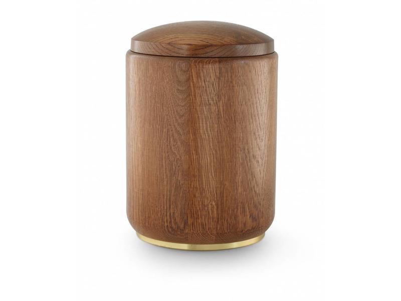 Eikenhout urn - hout