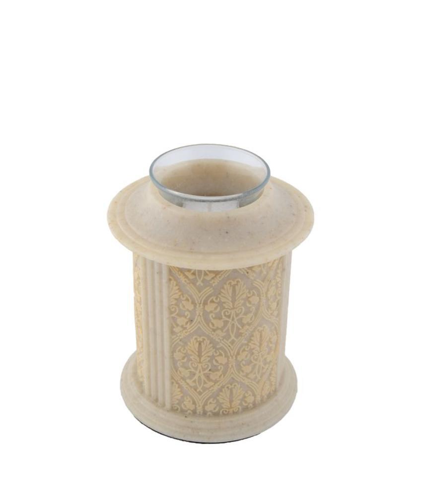 Filigree kandelaar mini urn naturel - polyresin