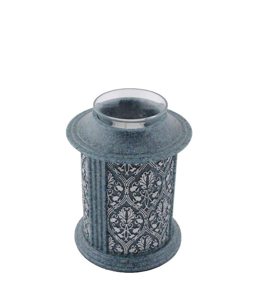 Filigree kandelaar mini urn tanzanite - polyresin