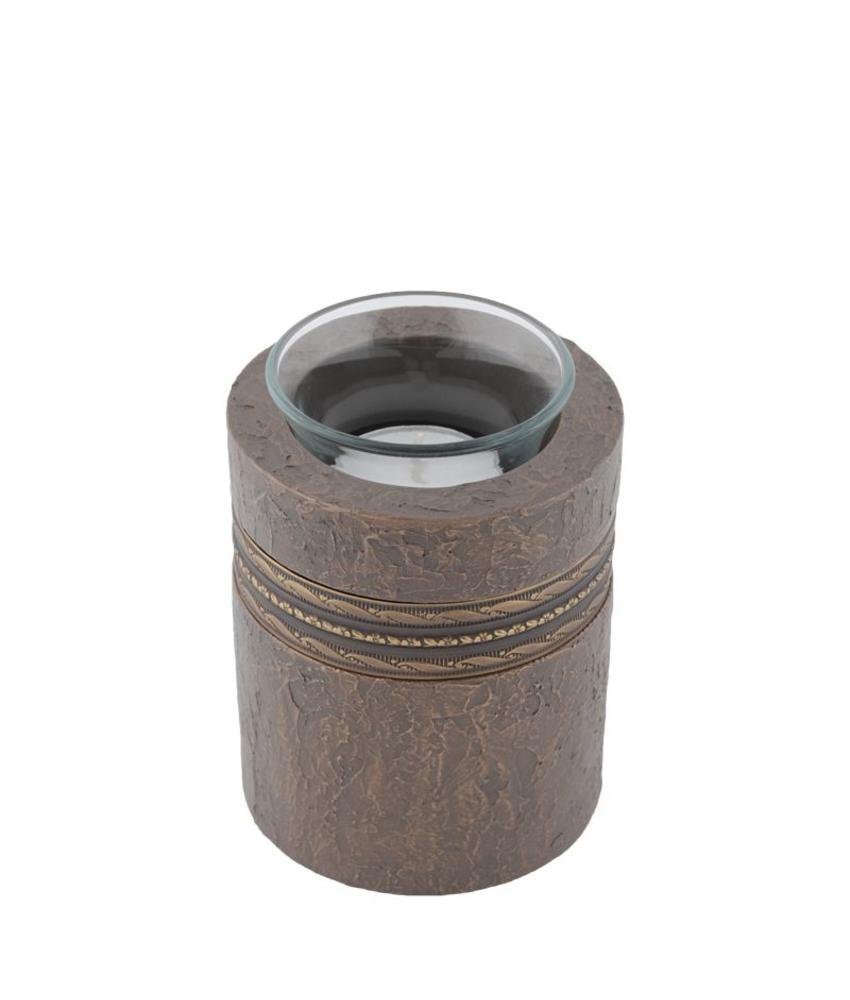 Mini urn imperial brons waakvlamhouder - polyresin