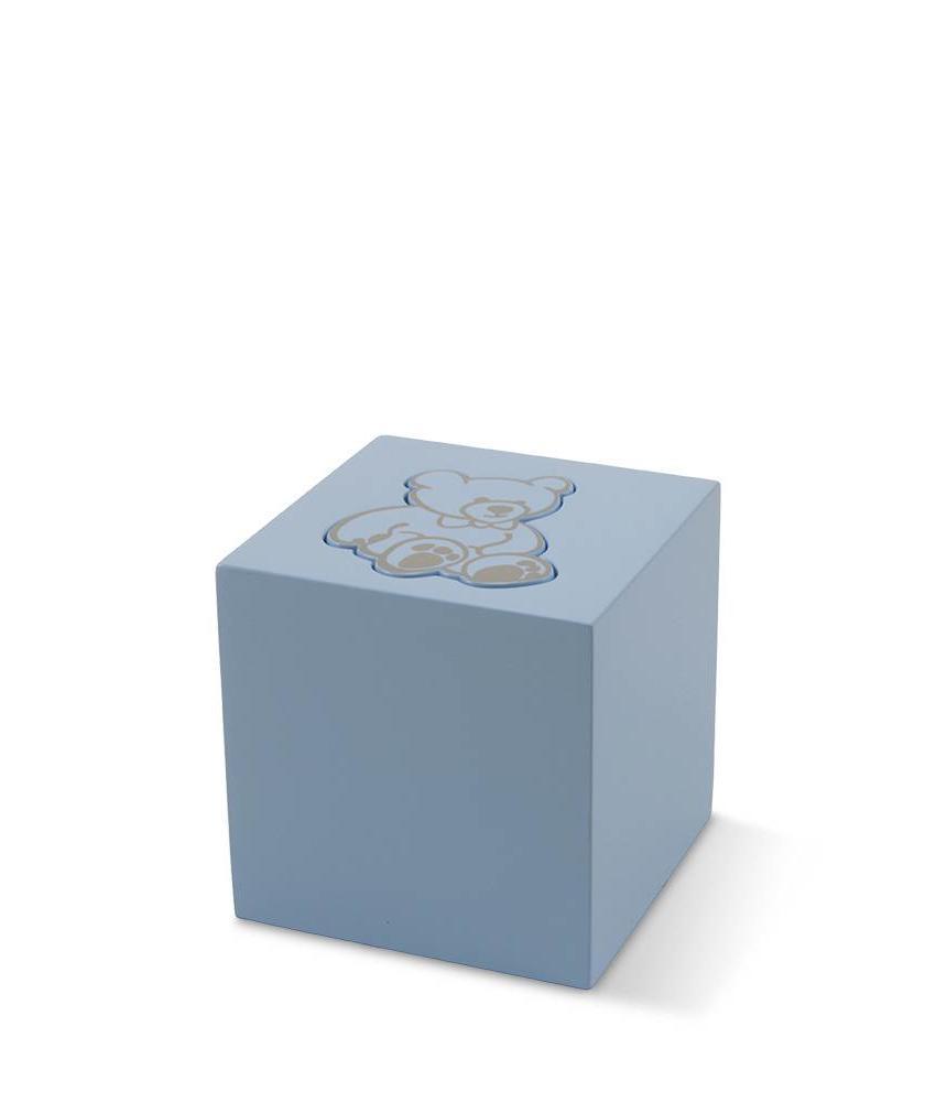 Kinder urn blauwe beer - aluminium