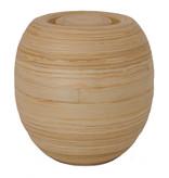 Bakka bamboe urn - hout