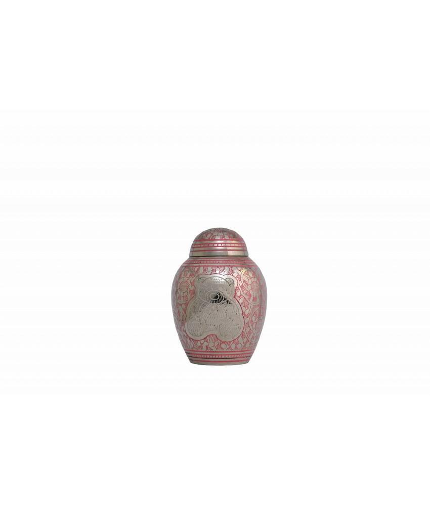 Kinder urn elinor pink - messing