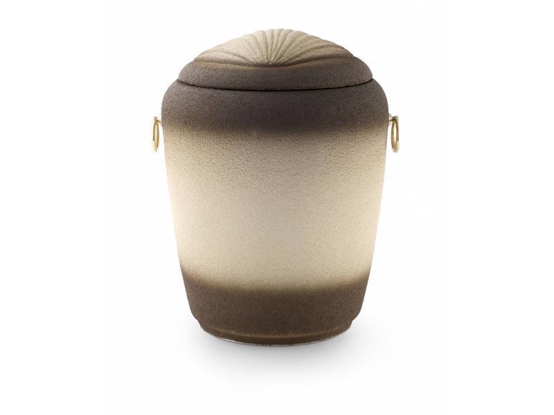 Eco urn met schelpmotief - bio