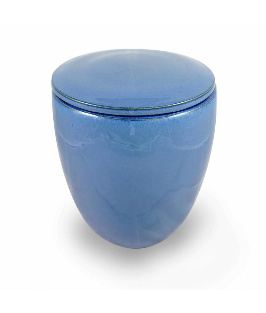 Keramische urn modern groot cobalt