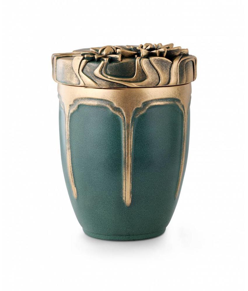 Patina waterlelie urn - Keramiek