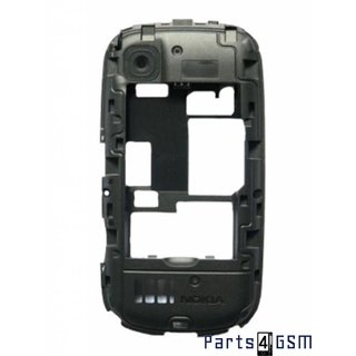 Nokia Asha 201 Middle Cover, Black, 259316