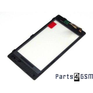Nokia Lumia 520, 525 Touchscreen + Frame Zwart 00809L1
