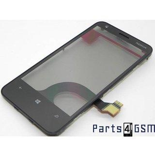 Nokia Lumia 620 Touchscreen Display Zwart 00808W4
