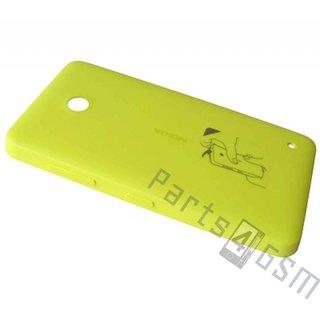 Nokia Lumia 630 Accudeksel, Geel, 02506C3