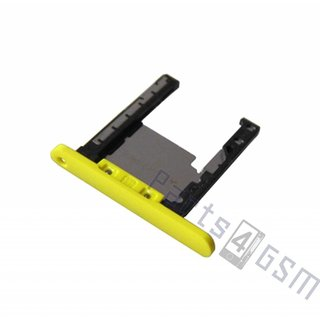 Nokia Lumia 720 Memory Card Tray Holder, Yellow, 0269D26
