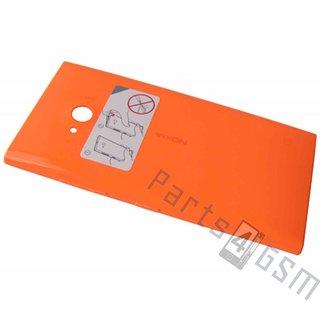 Nokia Lumia 730 Achterbehuizing, Oranje, 02507Z5