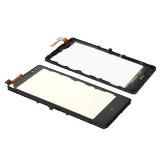 Nokia Lumia 820 Touchscreen Display Zwart 00805X6