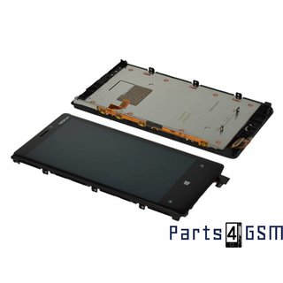 Nokia Lumia 920 Lcd Display + Touchscreen + Frame Zwart 00808F9