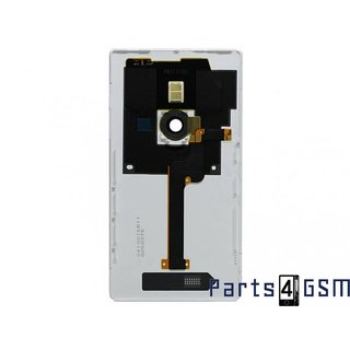 Nokia Lumia 925 Achterbehuizing, Wit, 00811C9; 00810B5