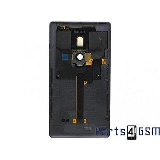 Nokia Lumia 925 Achterbehuizing, Zwart, 00811C8; 00810B7