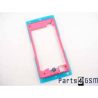 Sony Xperia Z1 Compact Middenbehuizing, Roze, 1278-5763