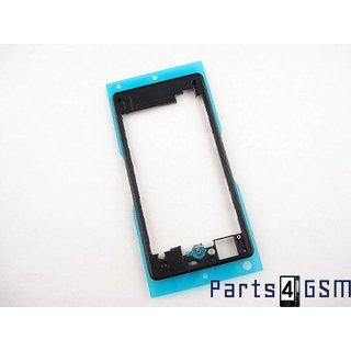 Sony Xperia Z1 Compact Middenbehuizing, Zwart, 1278-5760