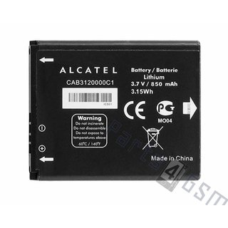 Alcatel Battery, CAB3120000C1, 850mAh, CAB3120000C1