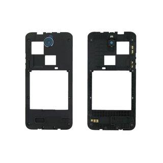HTC Desire 300 Middenbehuizing, Zwart, 74H02605-00M