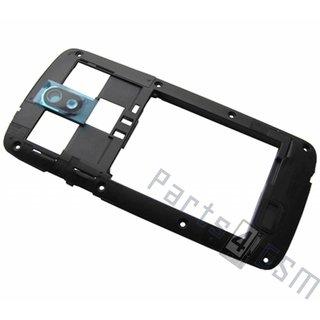 HTC Desire 500 Middle Cover, Black, 74H02548-00M