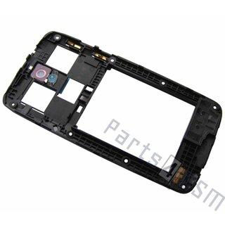 HTC Desire 500 Middenbehuizing, Zwart, 74H02548-00M