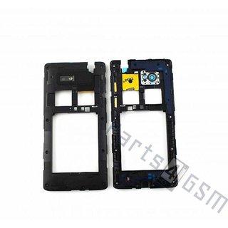 HTC Desire 600 Middenbehuizing, Zwart, 74H02555-00M