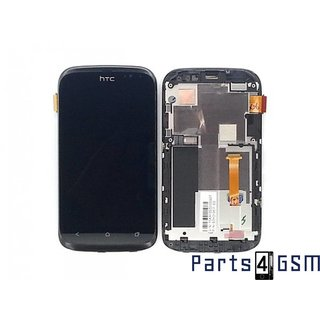 HTC Desire X Lcd Display + Touchscreen + Frame Zwart 80H01367-00 80H01367-00