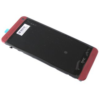 HTC One (M7) LCD Display Module, Red, 80H01568-02, 80H01483-02
