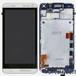 HTC One M7 Lcd Display + Touchscreen + Frame Zilver 80H01478-01; 80H01568-01