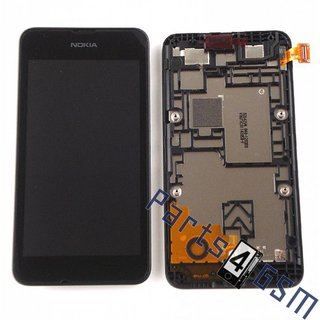 Nokia Lumia 530 Lcd Display Module, Zwart, 00812S6
