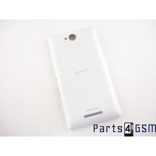 Sony Xperia C C2305 Achterbehuizing, Wit, A/405-58600-0001