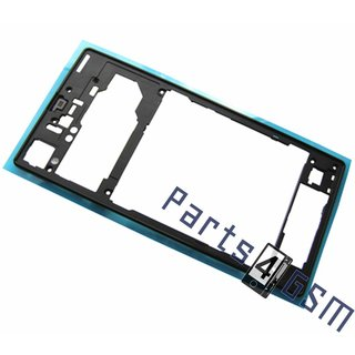 Sony Xperia Z1 (L39H C6903) Middle Cover, Black, 1272-0350