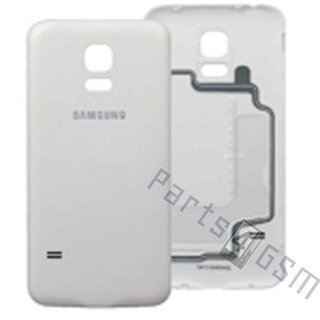 Samsung G800F Galaxy S5 Mini Battery Cover, White, GH98-31984B