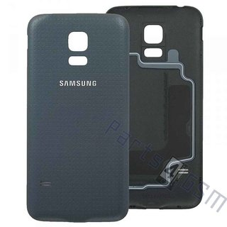 Samsung G800F Galaxy S5 Mini Battery Cover, Black, GH98-31984A