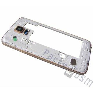 Samsung G900F Galaxy S5 Middenbehuizing, Goud, GH96-07236D