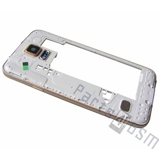 Samsung G900F Galaxy S5 Middle Cover, Gold, GH96-07236D
