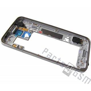 Samsung G900F Galaxy S5 Middenbehuizing, Wit, GH96-07236A
