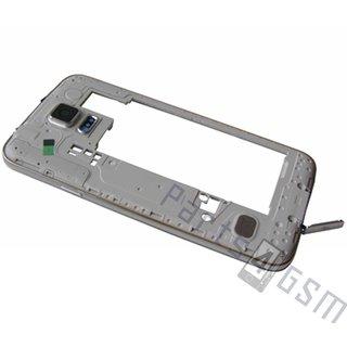 Samsung G900F Galaxy S5 Middenbehuizing, Zwart, GH96-07236B