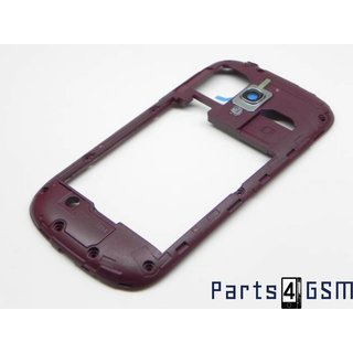 Galaxy S III Mini i8190 Middenbehuizing Rood GH98-24991F