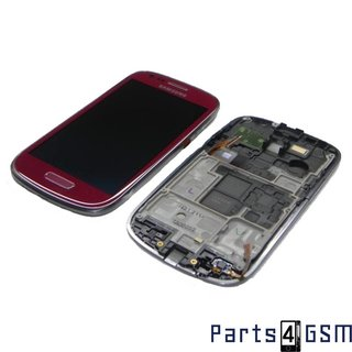 Samsung Galaxy S III Mini i8190 Lcd Display + Touchscreen + Frame Red GH97-14204F