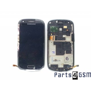 Samsung Galaxy S III Mini i8190 Lcd Display + Touchscreen + Frame Zwart GH97-14204C